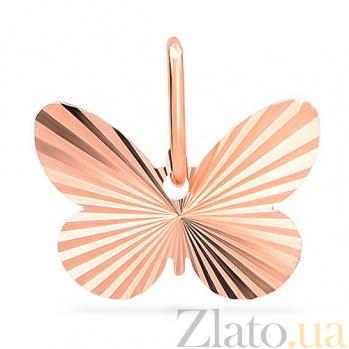 Подвеска из красного золота Лучезарная бабочка SUF--420222