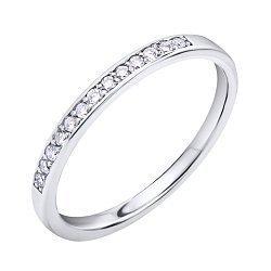 Кольцо из белого золота с дорожкой бриллиантов 000096830