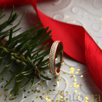Кольцо в красном золоте Вальс с фианитами 000023296
