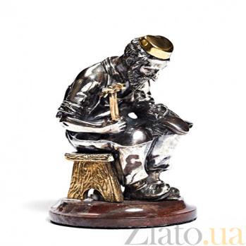 Серебряная статуэтка с позолотой Башмачник 496