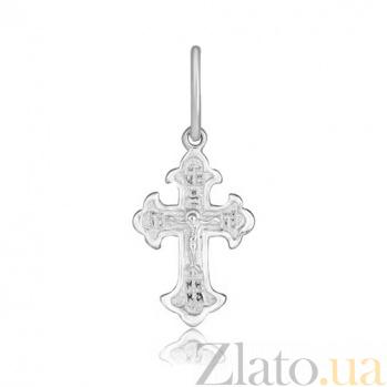 Серебряный крестик Духовный свет 000028504