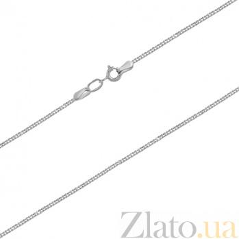 Золотая цепочка панцирного плетения Элегантность в белом цвете с алмазной насечкой 000020282