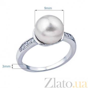 Кольцо из серебра с жемчугом Афродита AQA--R00547PW