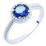 Серебряное кольцо Карима с топазом мистик