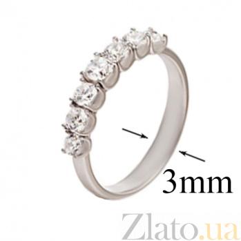 Кольцо из белого золота с цирконием Сафина SG--61669100