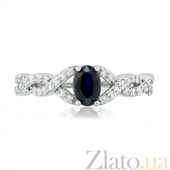 Золотое кольцо с сапфиром и бриллиантами Мартина EDM--КД7530/1САПФИР