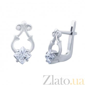 Серебряные серьги Кира AQA--72217б