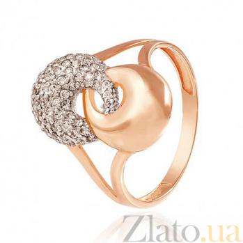 Золотое кольцо с фианитами  Полусферы EDM--КД2015