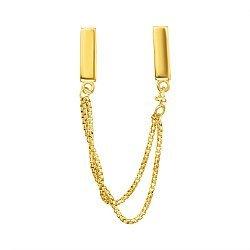 Серебряный позолоченный шарм-подвеска 000137668