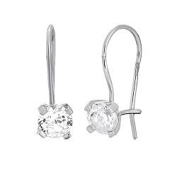 Серебряные сережки с цирконием Антонет