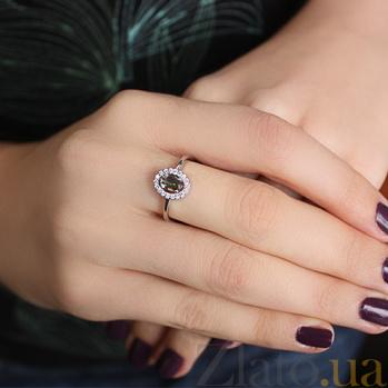 Серебряное кольцо Лия с мистик кварцем и фианитами 000032423
