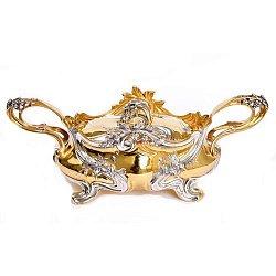 Серебряная конфетница Королевская с позолотой