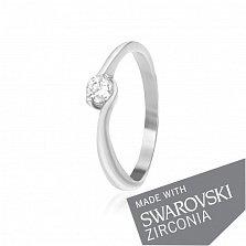 Серебряное кольцо Ивис с цирконием SWAROVSKI ZIRCONIA
