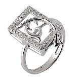Серебряное кольцо с цирконием Эльмира