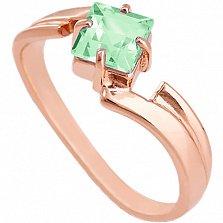 Золотое кольцо Оливия с синтезированным аметистом