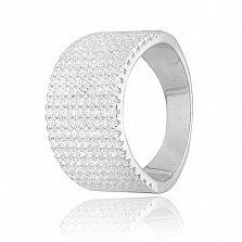 Кольцо из серебра с фианитами Волшебный блеск