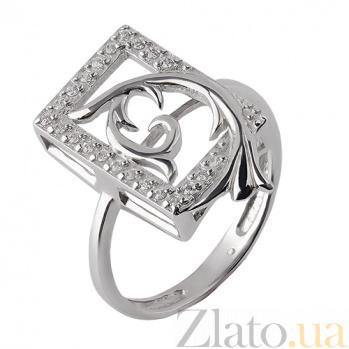 Серебряное кольцо с цирконием Эльмира TNG--320857С