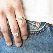 Серебряное кольцо с подвеской Стелла с фианитами