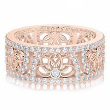 Обручальное кольцо в розовом золоте Восторг: Песня Ветра