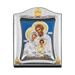 Серебряная икона Святое семейство с позолотой 000139759