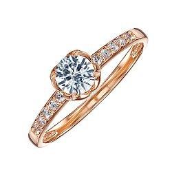 Кольцо в красном золоте Агата с кристаллами Swarovski