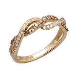 Золотое кольцо с бриллиантами Лилиана