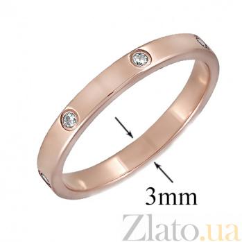 Золотое кольцо с фианитами Сариа ONX--кю02948