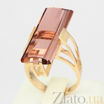 Кольцо из красного золота с раухтопазом Агапия VLN--112-1201-2