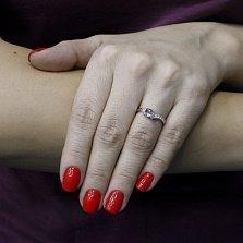 Кольцо в белом золоте Душевная связь с бриллиантами