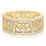 Обручальное кольцо в желтом золоте Восторг: Песня Ветра