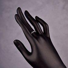 Серебряное разомкнутое кольцо Хоровод звезд