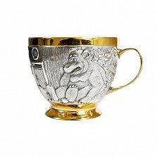 Серебряная детская чашка Маша и медведь