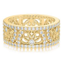 Обручальное кольцо в желтом золоте Восторг: Песня Ветра 000011005