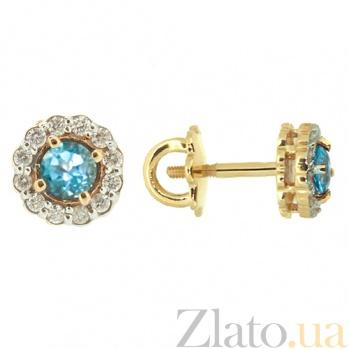Серьги-пуссеты из красного золота с топазами и бриллиантами Лиора ZMX--ET-6539_K