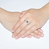 Серебряное кольцо с лондон топазом Лондон