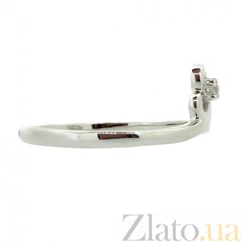 Золотое кольцо в белом цвете с бриллиантом Франческа 000021412