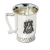 Серебряная чашка Николай Чудотворец с чернением