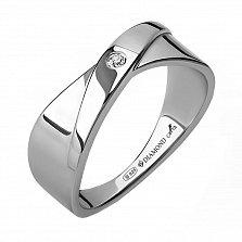 Серебряное кольцо Даяна с бриллиантом