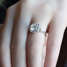 Серебряное кольцо с цирконием Олечка
