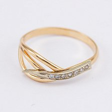 Золотое кольцо Дениза с фианитами