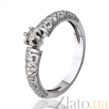 Кольцо из белого золота с бриллиантом Ажурная роскошь EDM--КД7486/1