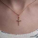 Золотой крестик с фианитом Искренность