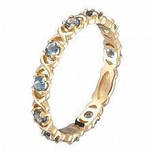 Кольцо в желтом золоте Констанция с лондон топазом
