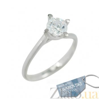 Золотое кольцо с кристаллом Swarovski Брижит 2К171-0056