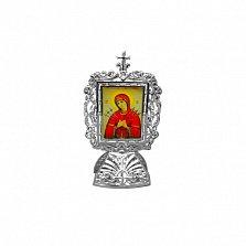 Серебряная икона Божья Матерь Семистрельная