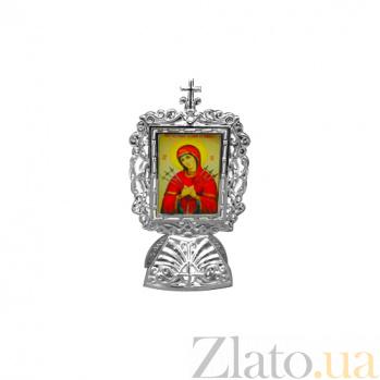 Серебряная икона Божья Матерь Семистрельная 000080546