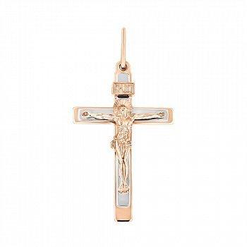 Крестик из красного золота Господне Спасение 000007582