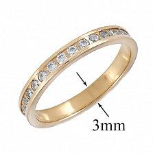 Золотое кольцо с фианитами Саяла