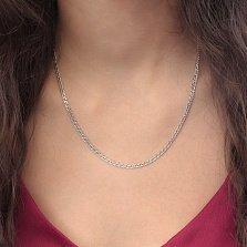 Серебряная родированная цепочка Паутинка с плетением Рембо, 3мм