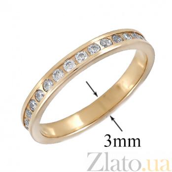 Золотое кольцо с фианитами Саяла ONX--к02952